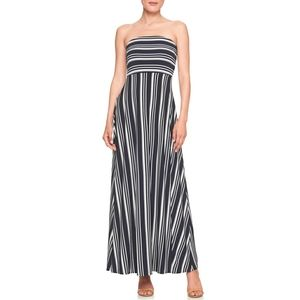 Banana Republic Blue/White Striped Maxi